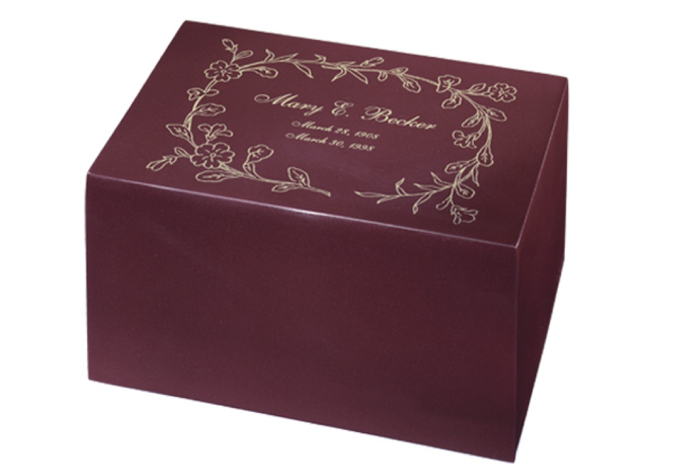 Regal Floral Rose Chest Urn