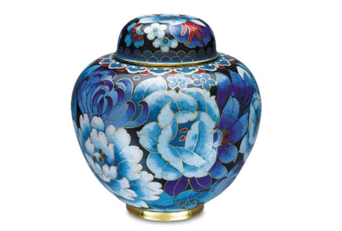 Royal Blue Keepsake Cloisonne' Urn